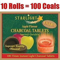 Starlight Apple Flavor Charcoal Box of 100 Quick Hookah Coals