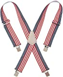 Custom LeatherCraft 110USA Heavy Duty USA Flag Elastic Suspender, USA Flag Print