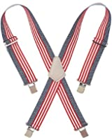 Custom LeatherCraft 110USA Heavy Duty USA Flag Elastic Suspender