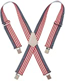 "2"" Wide Work Suspenders - 110Usa Flag Suspenders"
