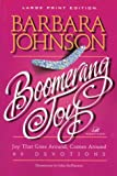 Boomerang Joy (Walker Large Print Books) (0802727514) by Johnson, Barbara
