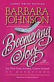 Boomerang Joy (Walker Large Print Books) (0802727514) by Johnson, Barbara