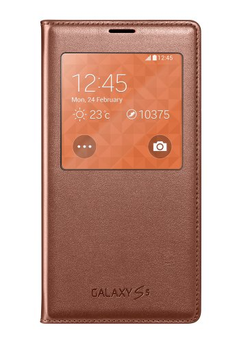 Samsung S-View Flip Cover For Samsung Galaxy S5 Rose Gold - Retail Packaging - Rose Gold
