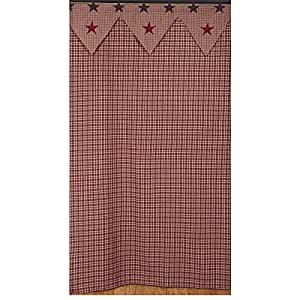 Amazoncom Vintage Star Wine Shower Curtain Bathroom 100