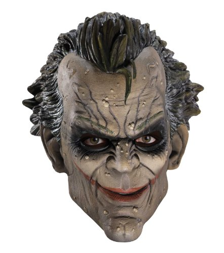 Rubies Mens Joker Batman Arkham City Asylum Cosplay Costume Mask