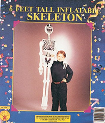 "72"" Inflatable Skeleton Halloween Decor 6 Feet Tall"