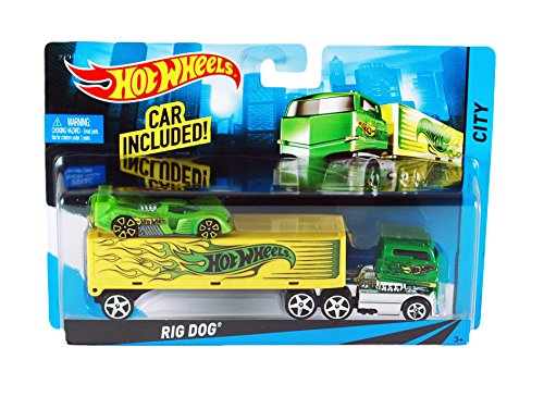 Hot Wheels City Rig Dog Toy Car Set (Hot Wheels Dog compare prices)