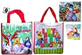 Disney Winnie the Pooh and Friends Christmas Reusable Tote Bag (set of 2) with 2014 Winnie the Pooh Wall Calendar & Winnie the Pooh 24 pieces Puzzle (as a bonus)