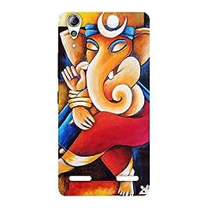 Ajay Enterprises Ganesha Abstracter Art Back Case Cover for Lenovo A6000 Plus