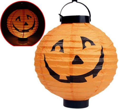 [LED Paper Pumpkin Bat Spider Hanging Lantern Light Lamp Halloween Party Decor] (Sexy Cosplay Ideas)
