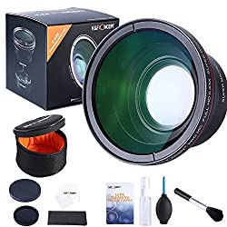 K&F Concept 58MM 0.43x Professional HD MC Wide Angle Lens Kit + Multifuntional Cleaning Kit for CANON Rebel Nikon DSLR Camera