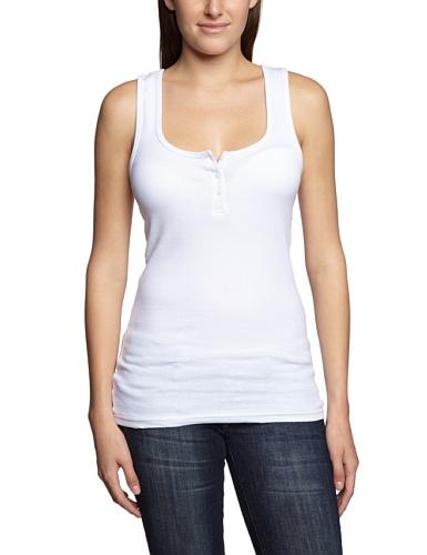 Urban Classics - Ladies Button Tanktop, T-shirt sportiva Donna, Bianco (White), Medium (Taglia Produttore: Medium)