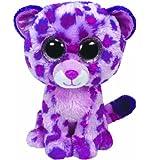 Ty Beanie Boos Glamour Leopard Plush, Pink, Medium