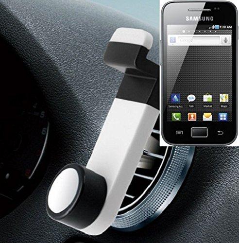 Universell einsetzbare Smartphone Halterung / Autohalterung / Lüftungshalterung für das Samsung Galaxy Ace. Weiß. Handy Halter für das Lüftungsgitter verwendbar mit Smartphones und Tablets von 5,2 cm - 9,4 cm Breite. Smartphonehalterung Handyhalterung Autohalterung Lüftung Lüftungsgitter Air Vent mount Halterung Lüftungsschlitz, Versand aus Deutschland innerhalb eines Werktages