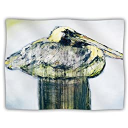 Kess InHouse Josh Serafin \'Oldtimer\' White Bird Dog Blanket, 40 by 30-Inch