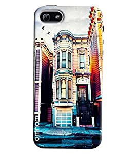 Omnam English House Painted Printed Designer Back Cover Case For Apple iPhone 5/5s