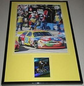 Elliott Sadler Signed Framed 11x17 Photo Display M&M