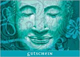 Nutzen Sie diesen weisen Buddha in türkis z.B.: als Geschenk Gutschein für ein Wellness Wochenende