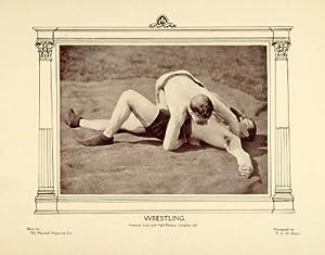 1907 Print Wrestling Holds Wrestlers F. G. O. Stuart Hammerlock Art Nouveau - Original Halftone Print