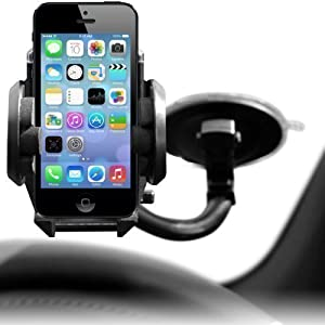 Shop4 Premium In Car Windscreen Suction Mount Holder For Apple iPhone 5 / 5s / 5c Mobile Phone
