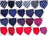 シンプル 簡単 ワンタッチ ビジネス ネクタイ 全22種類 全23カラー +チーフ 2点セット