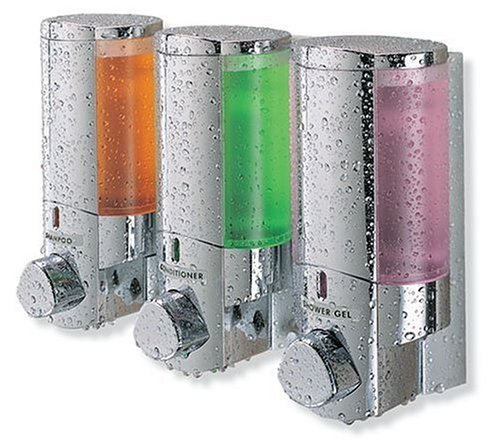 Better Living AVIVA Three Chamber Dispenser, Chrome