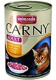 Animonda Carny Adult mit Huhn plus Ente 400 g - Katzenfutter, 6er Pack (6 x 400 g)