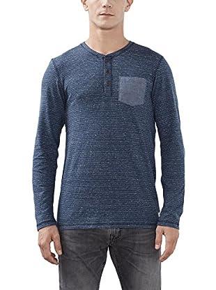 edc by ESPRIT Camiseta Manga Larga (Azul)