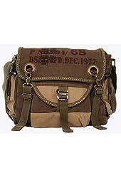 Army Vintage Canvas Messenger Bag Military Green - Larger Version