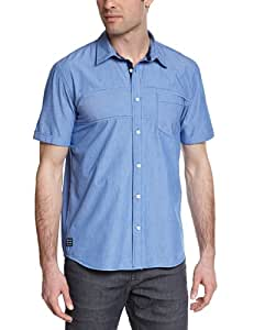 Oxbow Iluric Chemise manches courtes Homme Bleu Cobalt FR : L (Taille Fabricant : L)