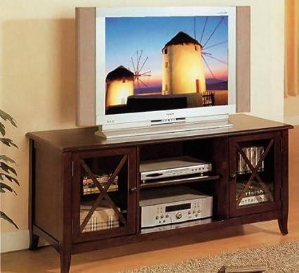 Entertainment Console Plasma LCD TV Stand - Espresso