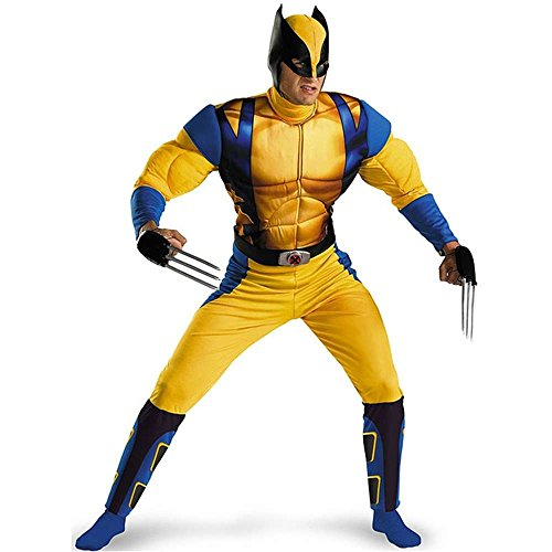 X-Men Wolverine Muscle Adult Costume - 42-46