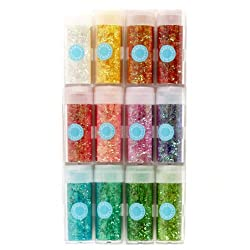 Martha Stewart Crafts Iridescent Tinsel Glitter Set By The Package