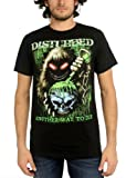 Disturbed - Toxic Globe Mens T-Shirt In Black, Size: XX-Large, Color: Black