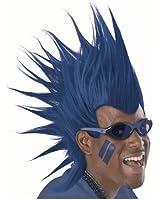 Blue Mohawk Wigs