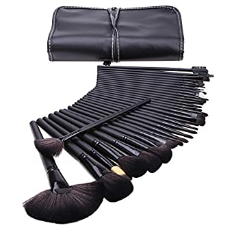 32 stk make up pinsel set mac profi kosmetik make up pinsel mit halter tasche. Black Bedroom Furniture Sets. Home Design Ideas