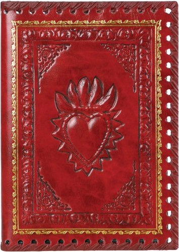 Eccolo Made in Italy 6 x 8 Inches Refillable Romance Journal, Red Heart (Leather Journal Made In Italy compare prices)