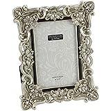 Floral Antique Silver Photo Frame 4 x 6