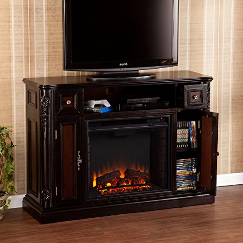 Southern Enterprises AMZ5739FE Finley Media Console/Stand Electric Fireplace, Ebony