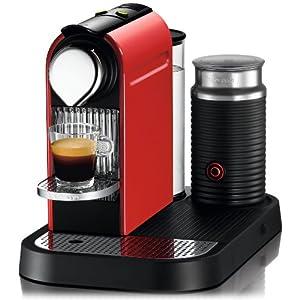 Nespresso C121-US-RE-NE1 Citiz Espresso Maker with Aeroccino Milk Frother, Red