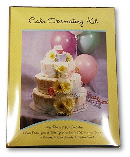 Baby diaper cake centerpiece decorating kit toddler