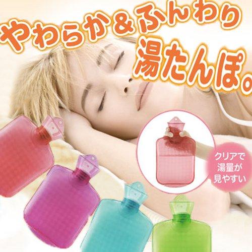【あったかカラフルソフト湯たんぽ】【ピンク】湯たんぽ やわらか ふわふわ 防寒 防寒グッズ 安眠 快眠 あったか