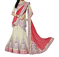 Ustaad Red Net And Georgette Party And Wedding Lehenga
