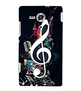 Music Special 3D Hard Polycarbonate Designer Back Case Cover for Sony Xperia SP :: Sony Xperia SP M35h