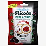Ricola Cough Suppressant, Oral Anesthetic Drops, Dual Action, Cherry, 19 drops