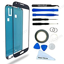 Samsung Galaxy S4 Black Display Touchscreen replacement kit 12 pieces incl tools / pre cut Sticker / cleaning cloth / suction cup / wire MMOBIEL