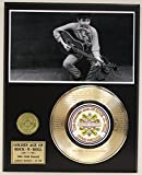 "Bob Dylan Laser Etched With Lyrics To""Blowin' In The Wind"" Limited Edition Gold Record Display"