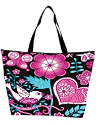 Snoogg Seamless Texture With Flowers Waterproof Bag Made Of High Strength Nylon - B01I1KGGBC