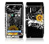 Black Skull Decorative Skin Cover Decal Sticker for Nokia N8 cell phone
