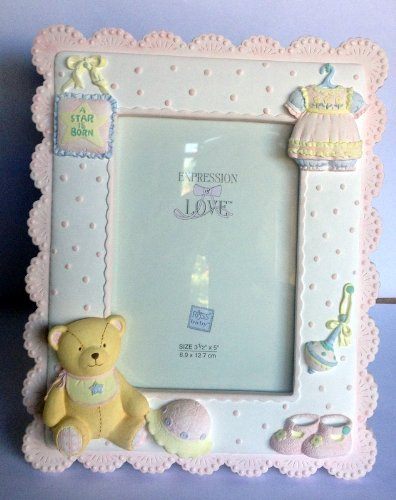 Expressions of Love Handpainted Baby Photo Frame (Pink) - 1